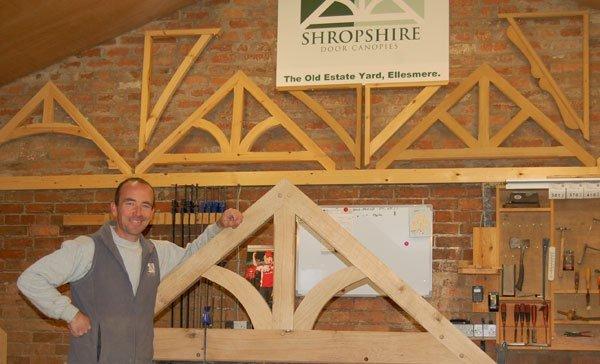 Dan Pritchard in the Shropshire Door Canopies Workshop