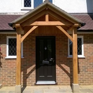 Shropshire door canopies top quality handmade porches for Porch designs for bungalows uk