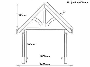 Blakemere Redwood Door Canopy  sc 1 st  Shropshire Door Canopies & Blakemere Redwood Door Canopy - Shropshire Door Canopies