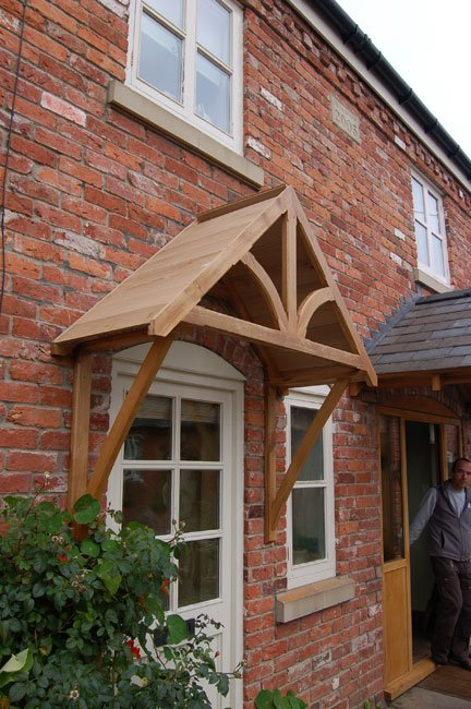 Blakemere Oak Door Canopy Shropshire Door Canopies