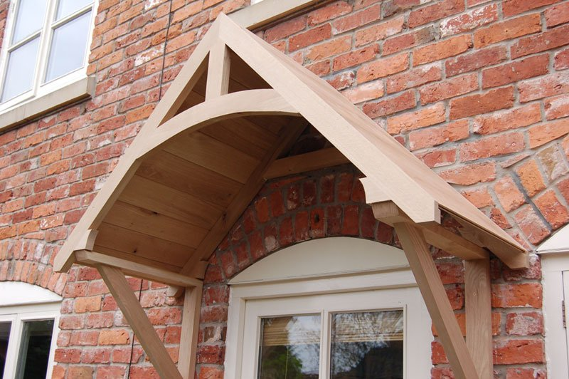 Crossmere Oak Door Canopy Shropshire Door Canopies