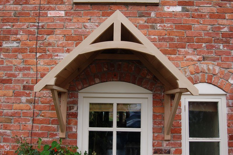 Crossmere oak door canopy shropshire door canopies for 1200mm front door
